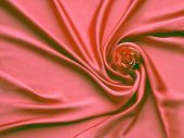 Red Silk And Rose Petals. Rose On A Silk Abstract Background. Valentines Day With Copy Space For Add poster