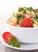 couscous salad with vegetables