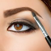 stock photo of eyebrow  - Make - JPG