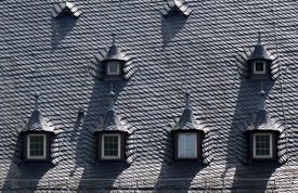 pic of gabled dormer window  - Dormer window at Palace of Vollrads in the Rheingau Hesse Germany - JPG