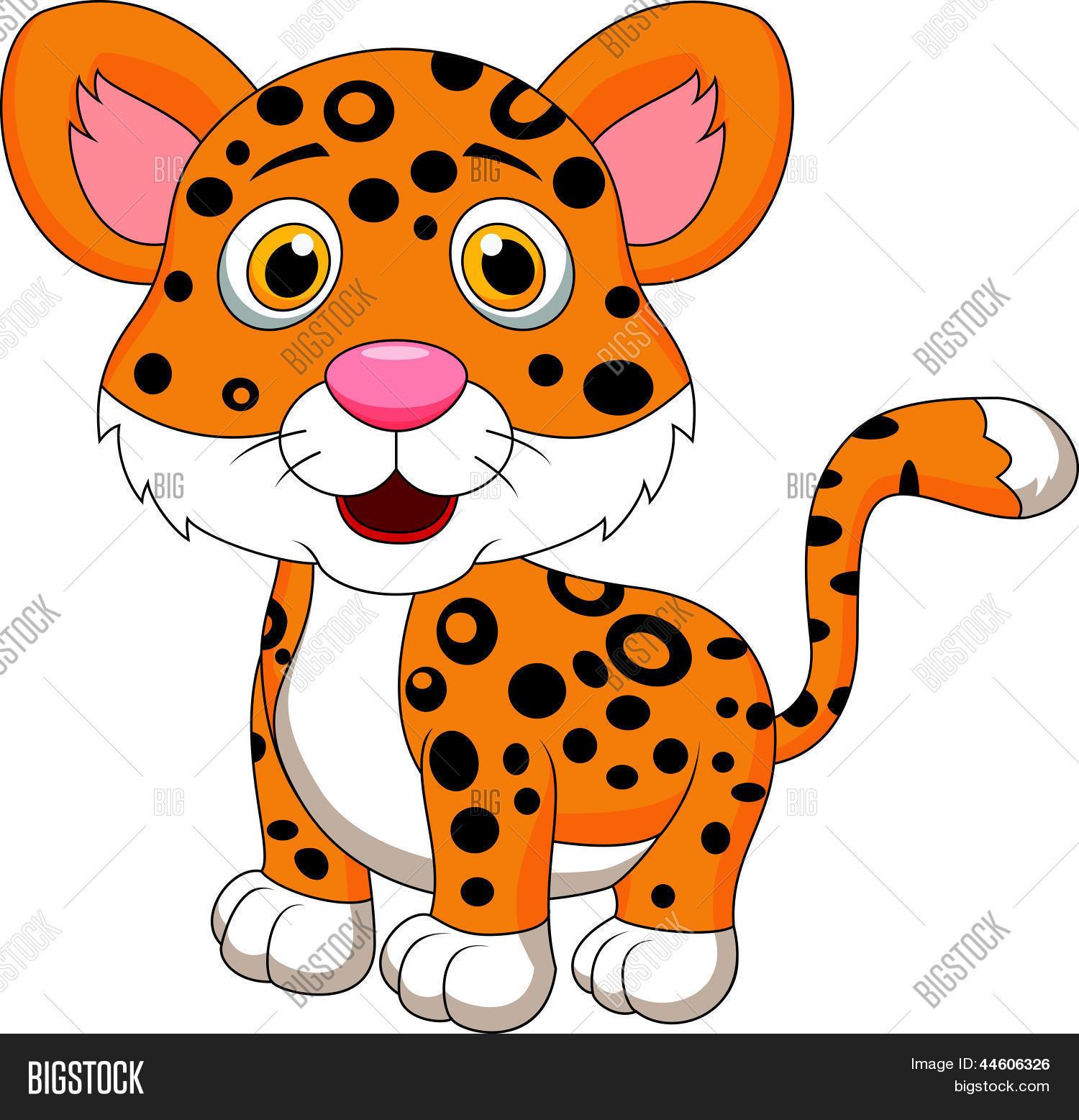 Vector y foto Dibujos Animados De Jaguar Lindo  Bigstock