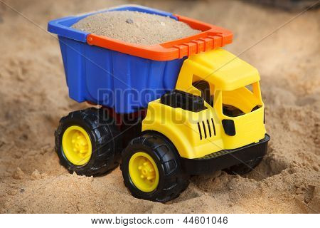 Toy Car In Sandbox