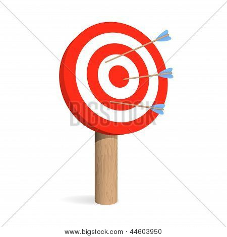Target Board With Arrows. Vector Illustration