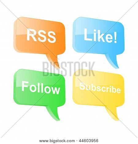 Social Network Speech Bubbles. Vector Illustration