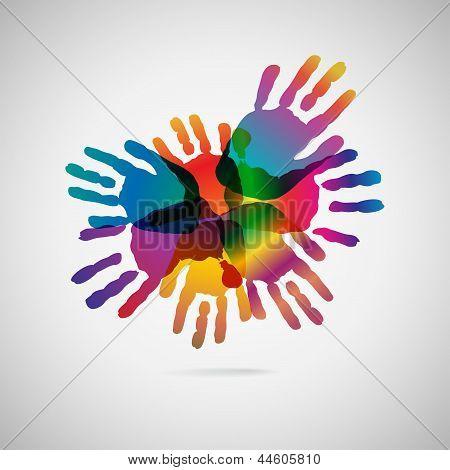 Hand Print icon.