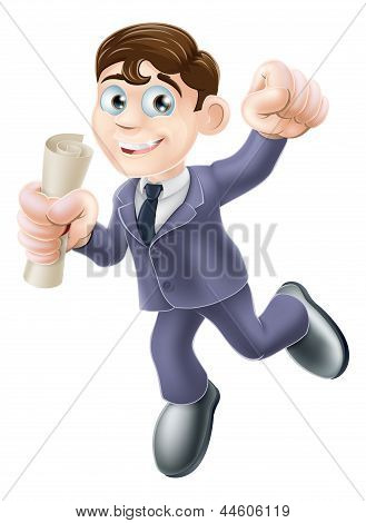 Businessman With Scroll