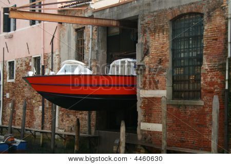 Water Ambulance Storage, Venice, Italy