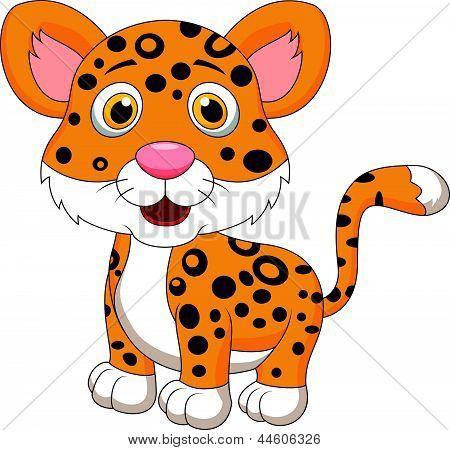 Dibujos animados de jaguar lindo bebé