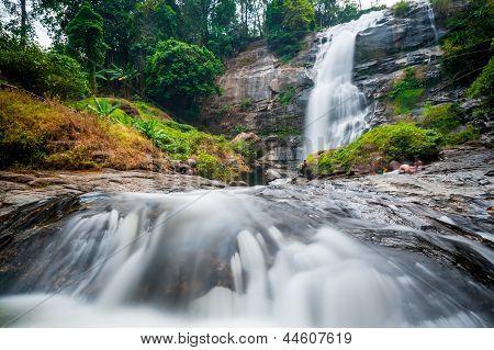 Vachiratharn Waterfall In Thailand