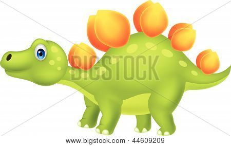Cute stegosaurus cartoon