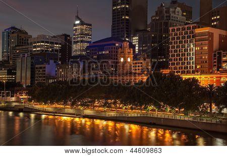 Melbourne al atardecer