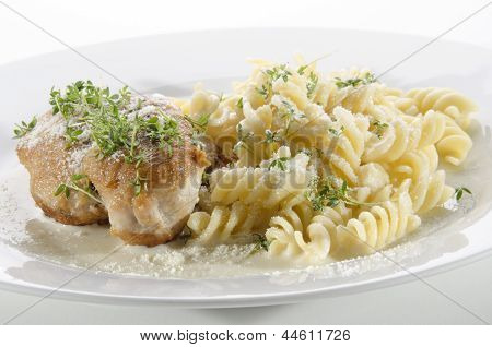 Chicken Breast On Noodle