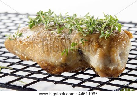 Grilled Chicken Breast On A Cooling Rack