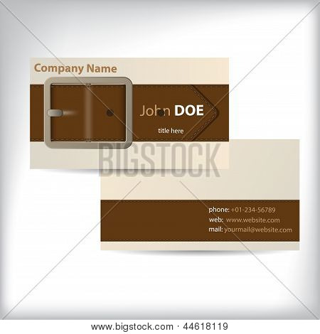 Cool Waistband Theme Business Card