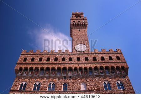 Palazzo Vecchio - Old Palace - In Florence, Italy