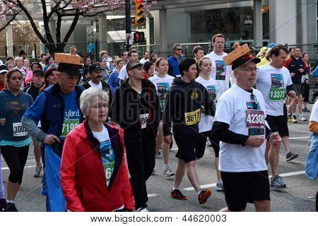 Cheese Head Racers At  2013 Vancouver Sun Run