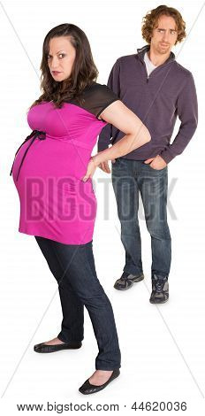 Angry Pregnant Lady With Man