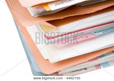 Stack Of Folders With Dividers