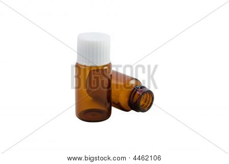 Homoeopathic Pill Bottles (isolated)