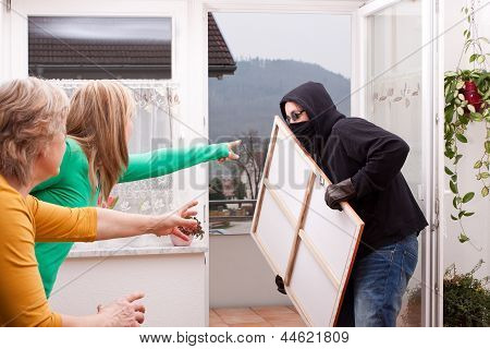 Masked Burglar Is Observed