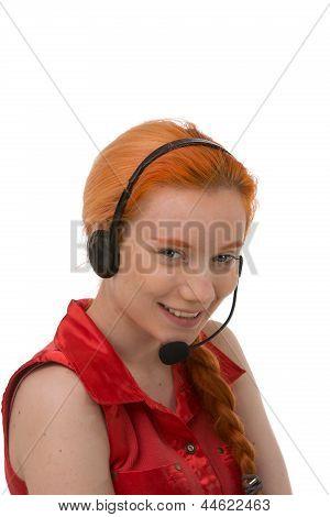 Pretty Young Call Centre Operator