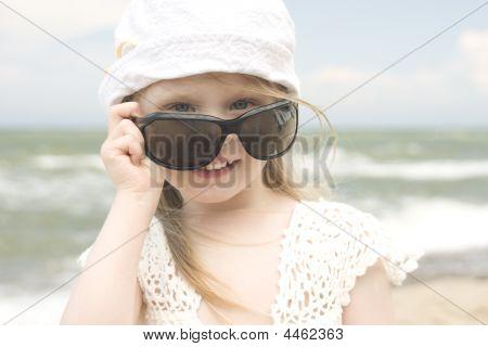 Little Girl And Big Sunglasses Iii