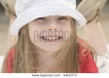 Portrait Of A Beautiful Girl In Hat Iv