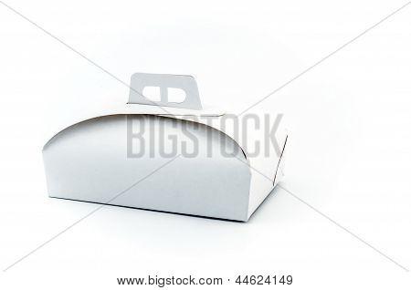 White Paper Cake Box