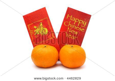 Mandarin Oranges And Red Packets