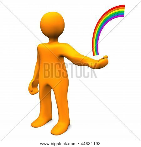 Manikin Hand Rainbow
