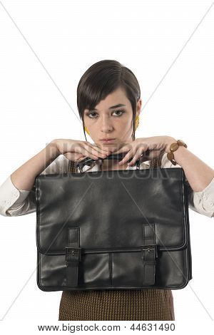 Professional Female With Briefcase