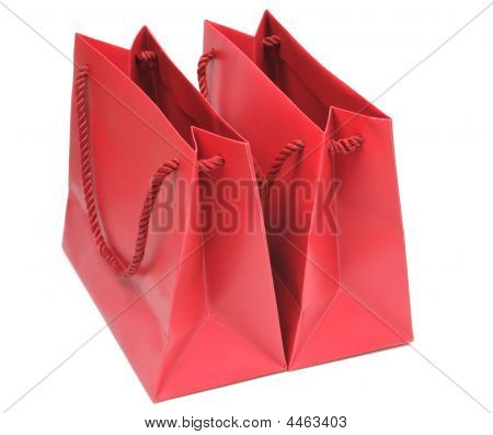 Two Red Shopping Bags