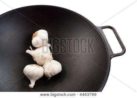 Garlic In Wok