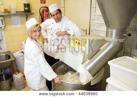 Bakers With Dough Kneading Machine