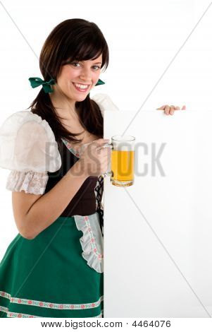 Beer Girl & Sign