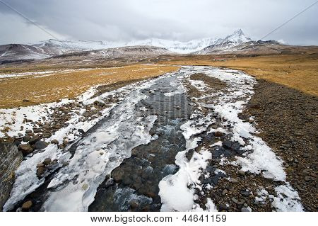 Small River In Iceland