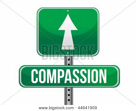 Compassion Road Sign Illustration Design