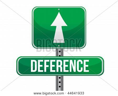 Deference Road Sign Illustration Design