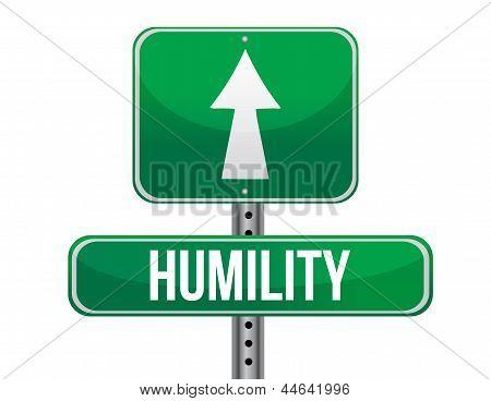 Humility Road Sign Illustration Design
