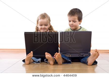 Kids Using Laptop Computers