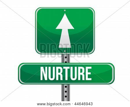 Nurture Road Sign Illustration Design