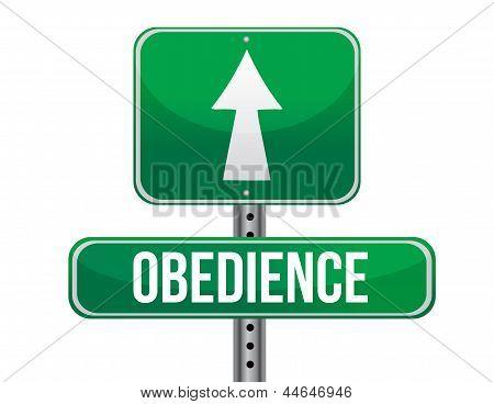 Obedience Road Sign Illustration Design