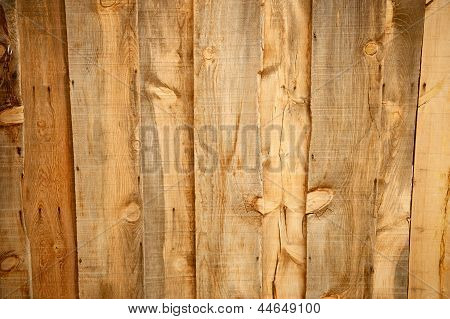 Old Wood Panels With Knots