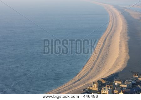 Chesil Beach Near Portland In Weymouth Dorset