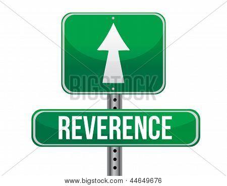 Reverence Road Sign Illustration Design