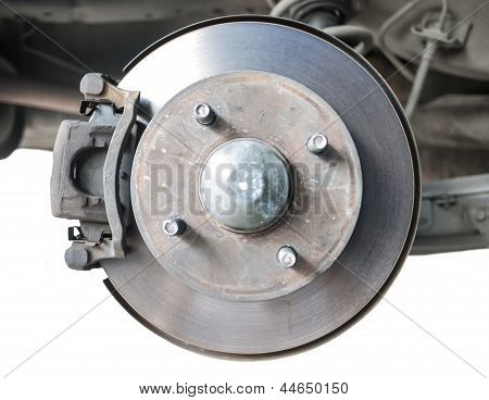 Standard Car Disc Brake Isolated On White