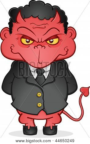 Böse Business Devil-Cartoon-Figur