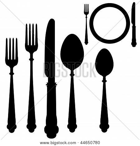 Utensil Placement Vector.