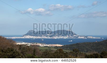 Rock Of Gibraltar View From Spain