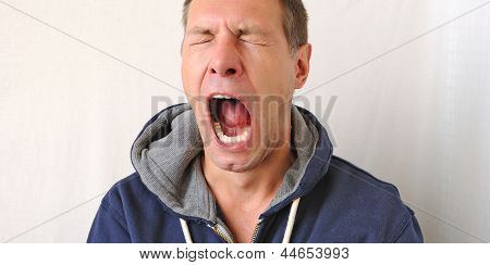 Portrait Of The Yawn Man